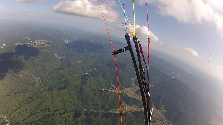 パラグライダーで上空1900mから見た景色