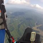 パラグライダー上空からの景色