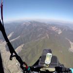 粟鹿山に向かう上空からの景色